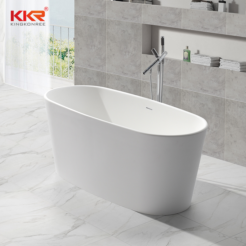 Small Size Acrylic Resin Stone Solid Surface Short Bathtub KKR-B047