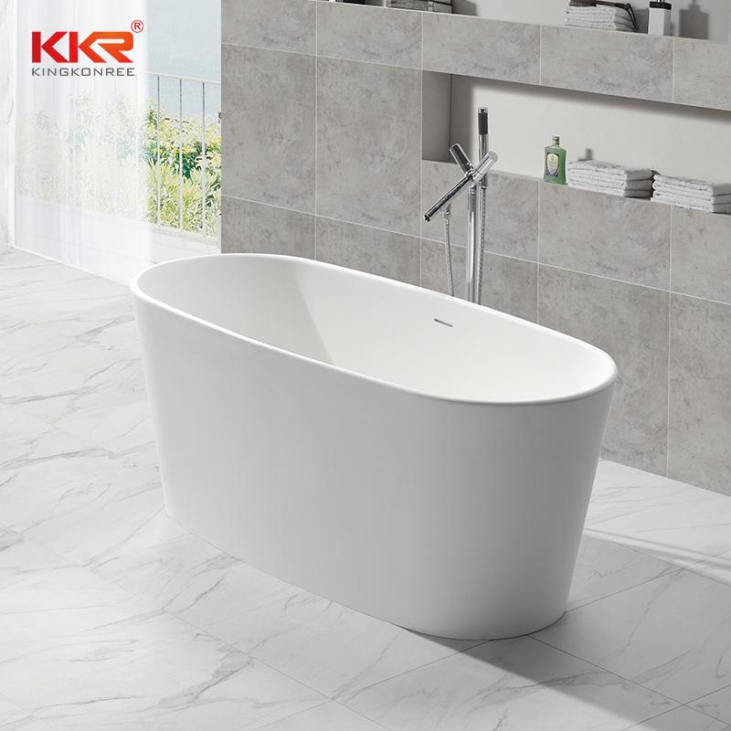 Small Size Acrylic Resin Stone Solid Surface Short Bathtub KKR-B047