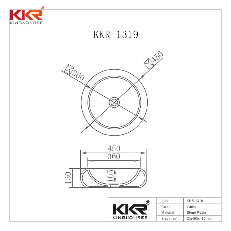 New Designs Counter Top Bathroom Counter Top Wash Basin KKR-1319