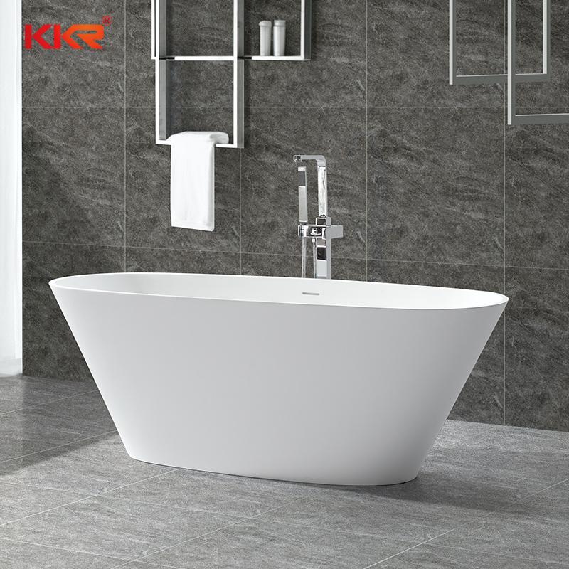 Resin Stone Acrylic Solid Surfacce Bathroom Freestading Bath Tubs KKR-B050
