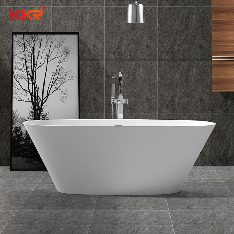 Resin Stone Acrylic Solid Surfacce Bathroom Freestading Bath Tubs KKR-B050