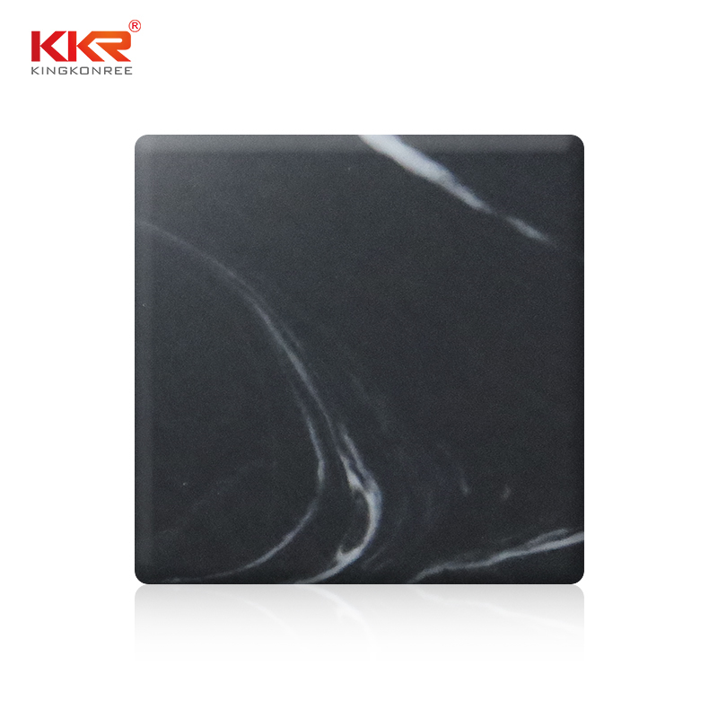 Artifical Marble Black White Patttern Texture Acrylic Solid Surface Sheets KKR-M8832