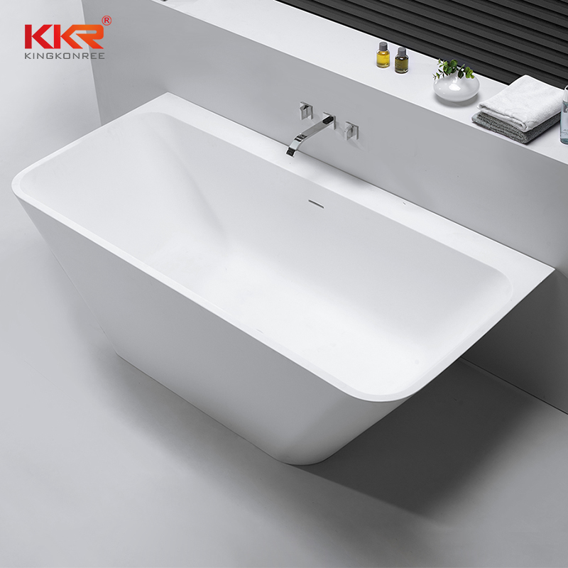 Against Wall Solid Surface Bathtub KKR-B053