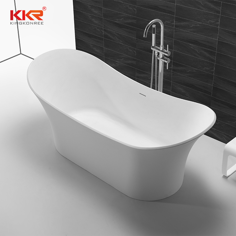 Luxury Vessel Shaped Acrylic Resin Stone Solid Surface Bathtub KKR-B055