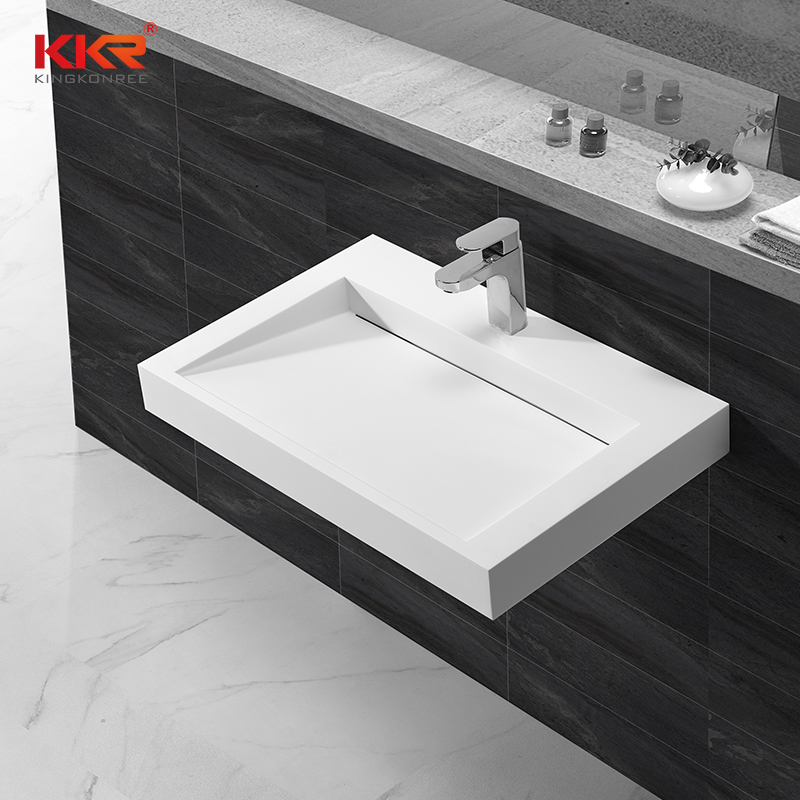 Royal White Marble Small Slope Wall Hung Wash Basin KKR-1261