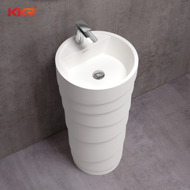 Diameter 450mm Round Design Freestanding Wash Basin KKR-1398-A