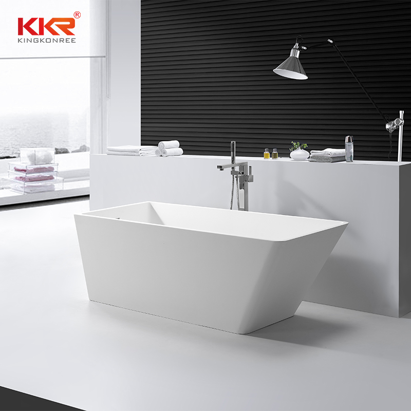 Bathroom Furniture Solid Surface Stone Freestanding Bathtub KKR-B058