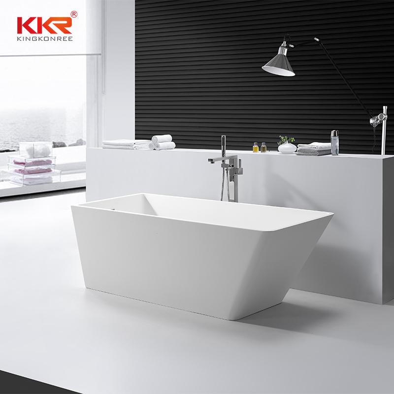 Bathroom Furniture Solid Surface Stone Freestanding Bathtub KKR-B058