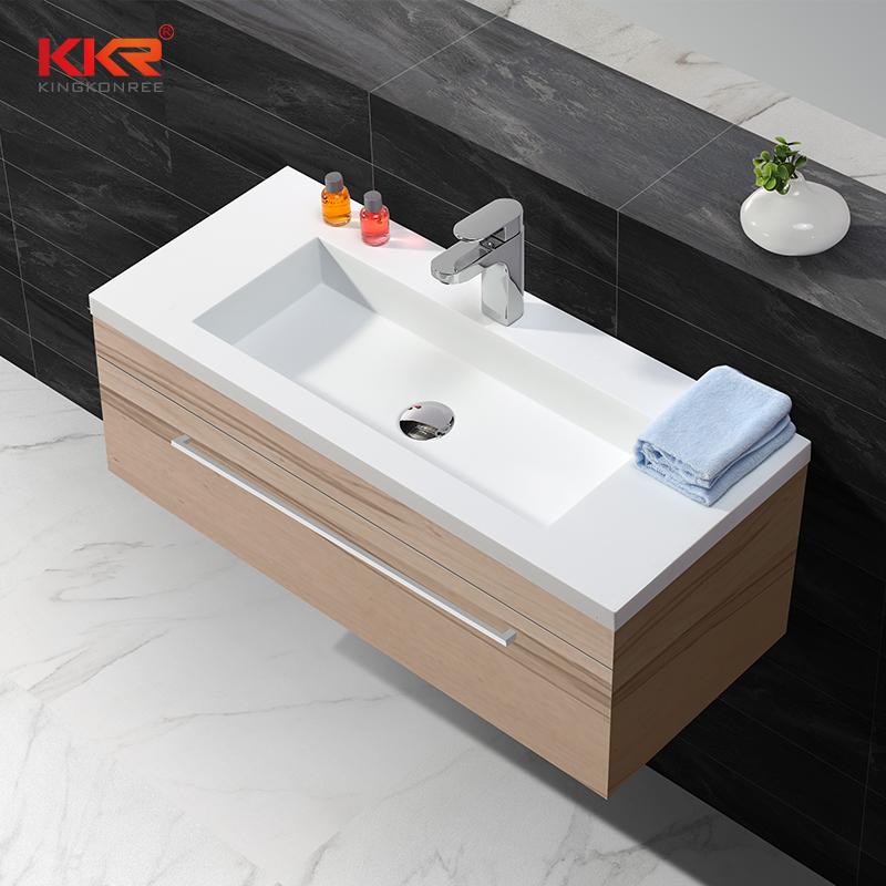 Rectangle Acrylic Stone Solid Surface Cabinet Basin KKR-1557