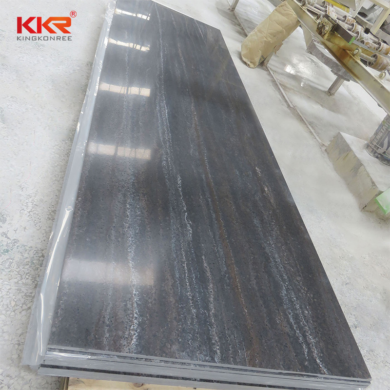 48 Inch Width Texture Pattern Acrylic Solid Surface Sheets KKR-M8829