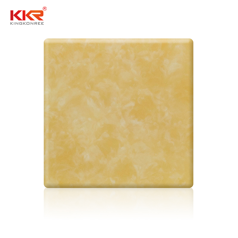 Yellow Translucent Acrylic Solid Surface Sheet KKR-A005
