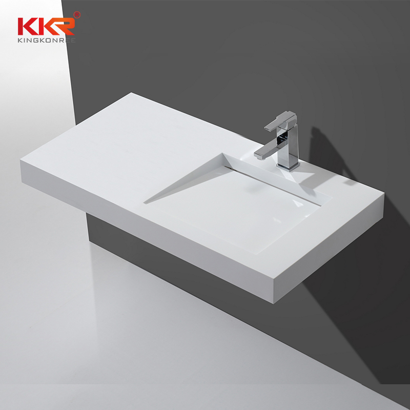 Hot sale In Europe Marke Wall Hung Basin With Small Slope Design KKR-1339