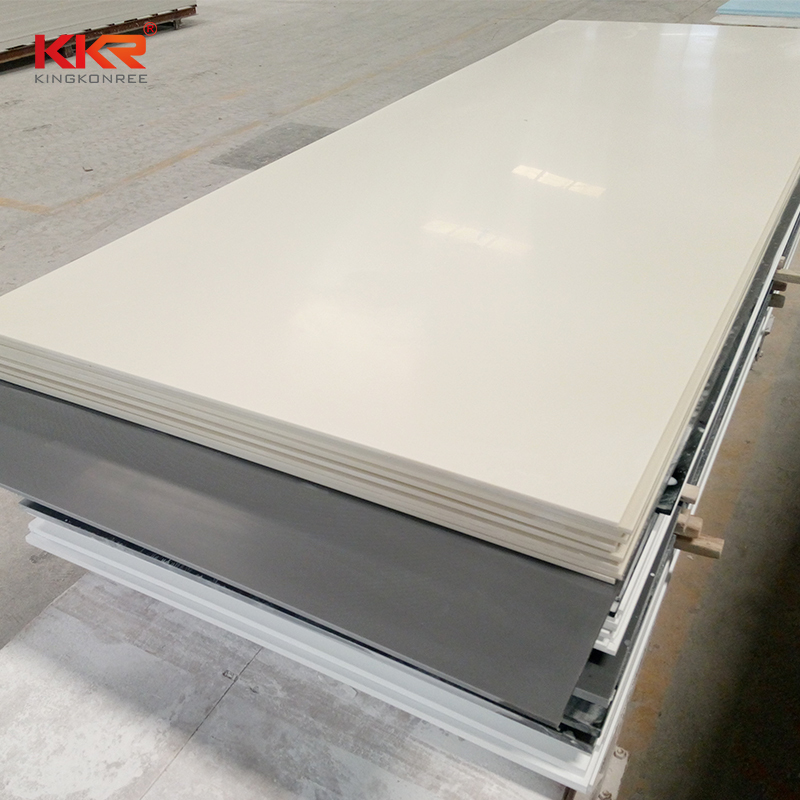 Bone White Color Modified Acrylic Solid Surface Sheets KKR-M1679