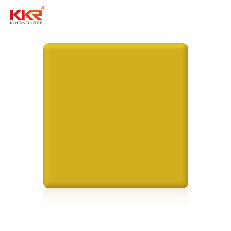 3660mm Length Yellow Color Acrylic Solid Surface Sheet KKR-M1703