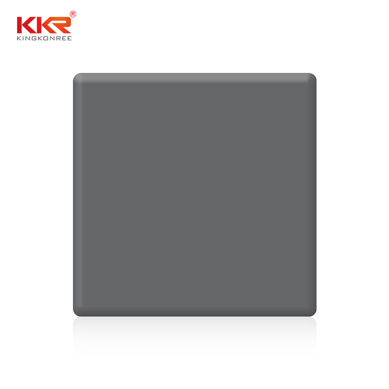 Pure Grey Modified Acrylic Solid Surface Sheet In 2440mm Length KKR-M1706