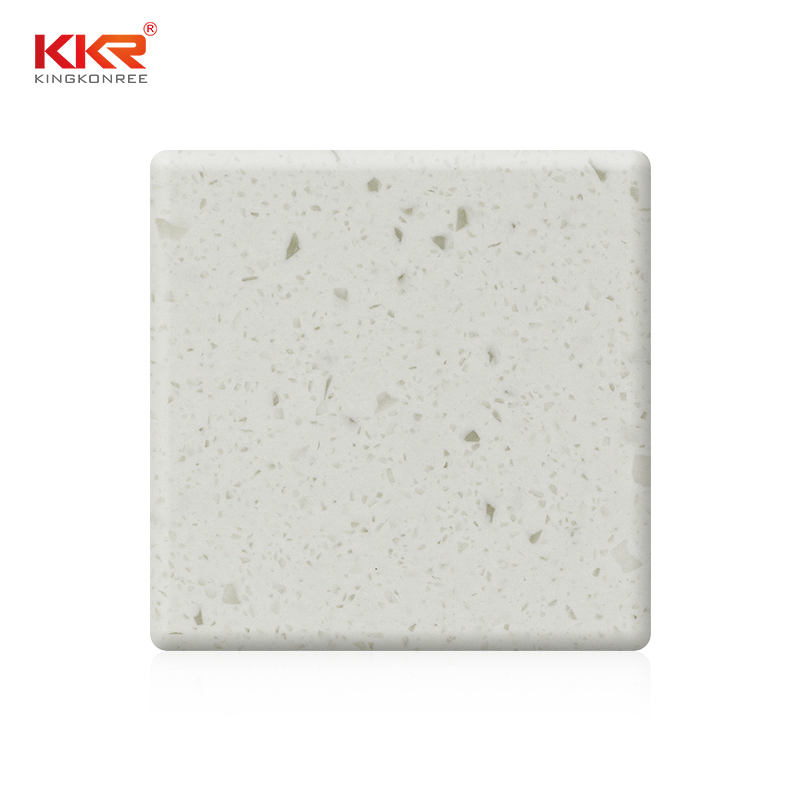 900mm Width White Color With Chips Acrylic Solid Surface Sheets KKR-M1815