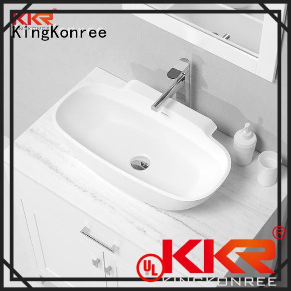 oval above counter basin shape KingKonree Brand above counter basins