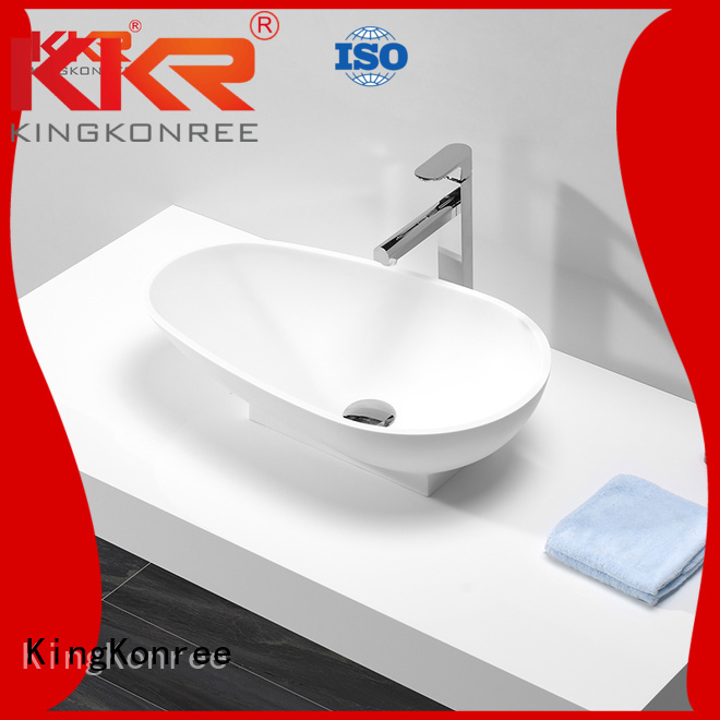 oval above counter basin stone bathroom above counter basins basin KingKonree Brand