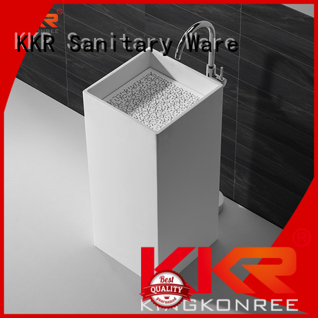KingKonree Brand unique surface pedestal bathroom free standing basins bathroom