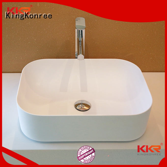 shape wash acyrlic above counter basins KingKonree Brand