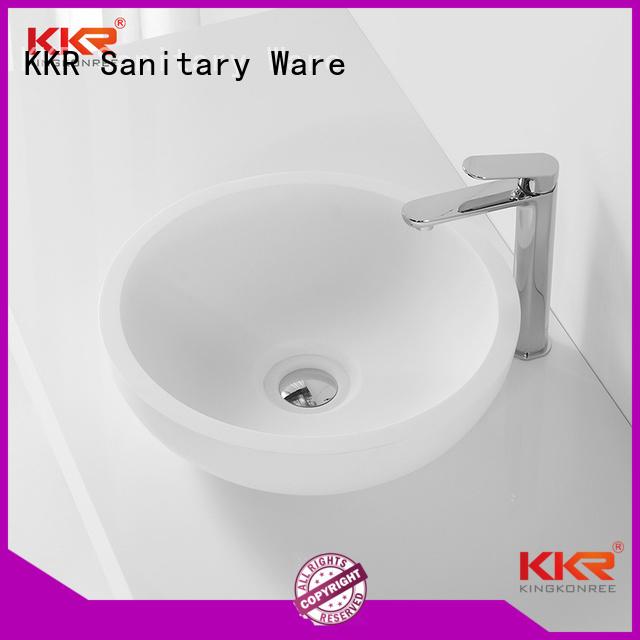 oval above counter basin square bathroom KingKonree Brand