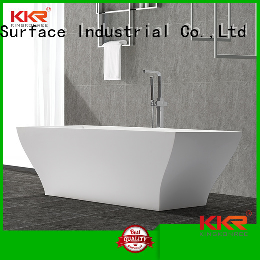 floor round standing KingKonree Brand Solid Surface Freestanding Bathtub manufacture
