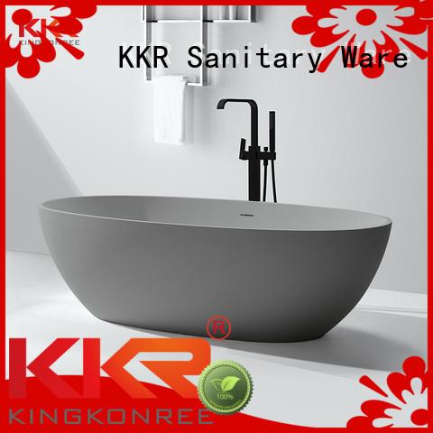 Hot highend Solid Surface Freestanding Bathtub polymarble KingKonree Brand