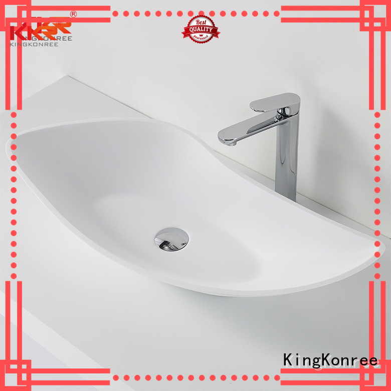 KingKonree Brand oval countertop oval above counter basin surface supplier