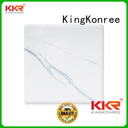 KingKonree Brand artificial solid texture solid acrylic sheet surface