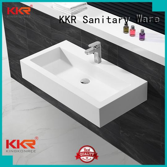 ware design surface KingKonree Brand wall mounted bathroom basin factory