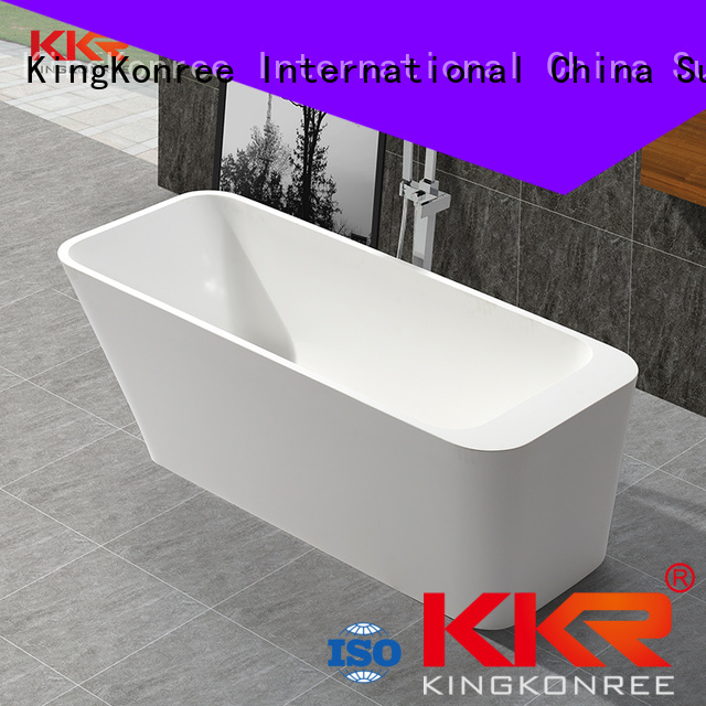 tub against Solid Surface Freestanding Bathtub matt 1800mm KingKonree Brand
