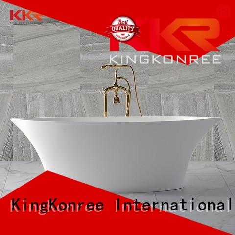 KingKonree Brand sales Solid Surface Freestanding Bathtub wall supplier
