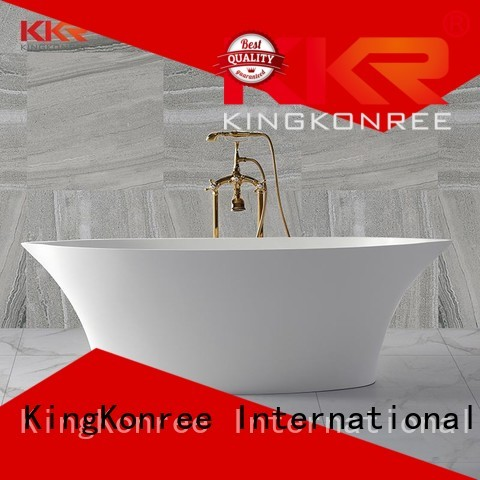 KingKonree Brand sales Solid Surface Freestanding Bathtub wall supplier