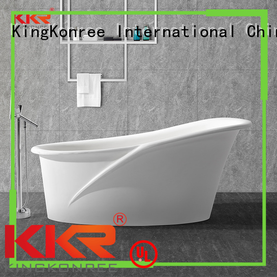 KingKonree Brand renewable solid surface bathtub inside factory