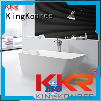 KingKonree Brand polymarble modern solid surface bathtub storage factory