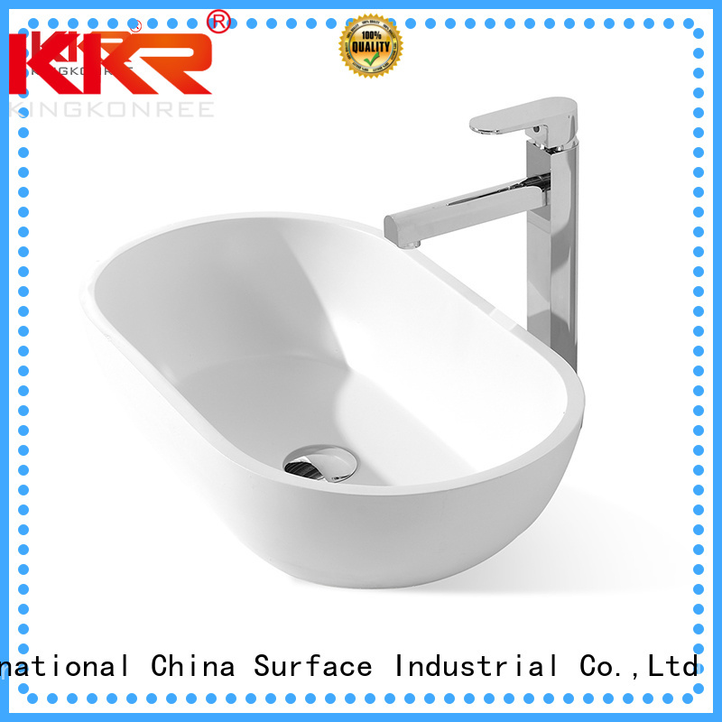 above acrylic counter artificial oval above counter basin KingKonree Brand