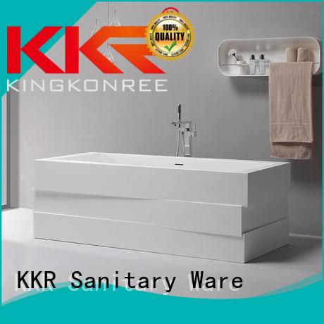 b008 freestanding solid surface bathtub artificial KingKonree Brand