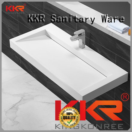 surface unique OEM wall mounted wash basins KingKonree