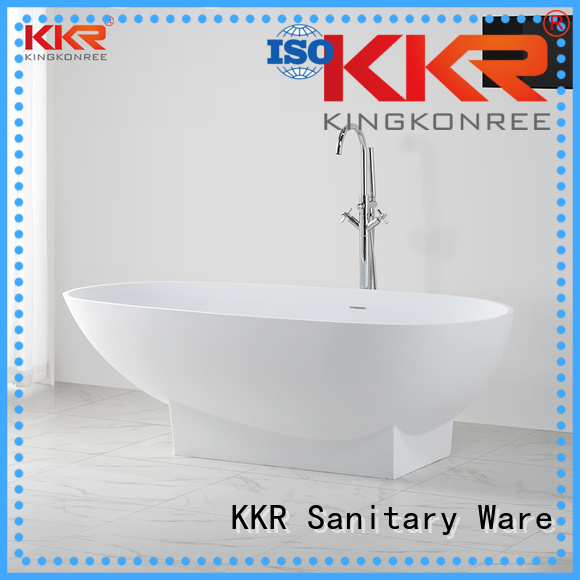 length modern KingKonree Brand Solid Surface Freestanding Bathtub factory