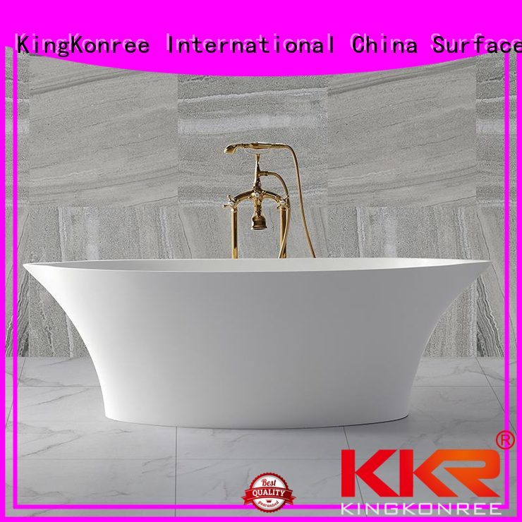 diameter atrifial Solid Surface Freestanding Bathtub KingKonree manufacture
