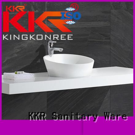surface countertop above counter basins acrylic KingKonree Brand
