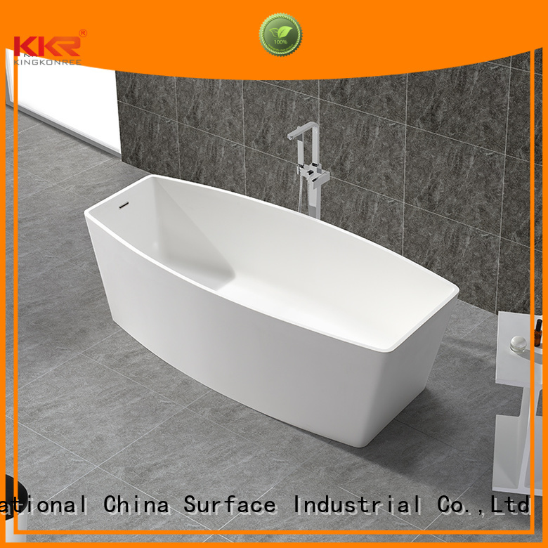 renewable solid surface bathtub small 1800mm KingKonree company