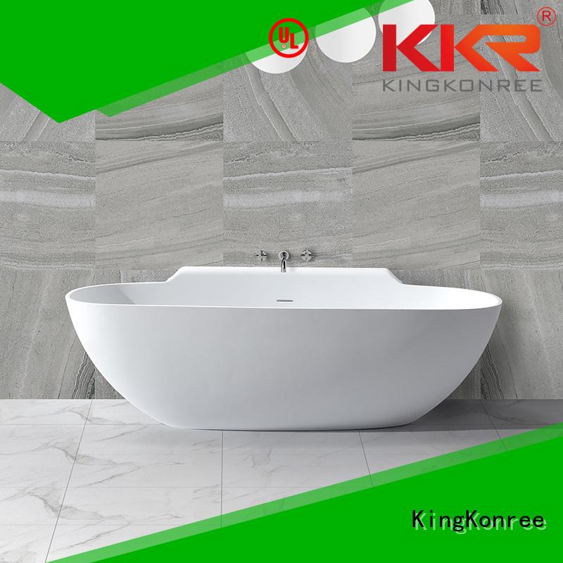 Solid Surface Freestanding Bathtub b002c b006 solid surface bathtub shelves KingKonree Brand