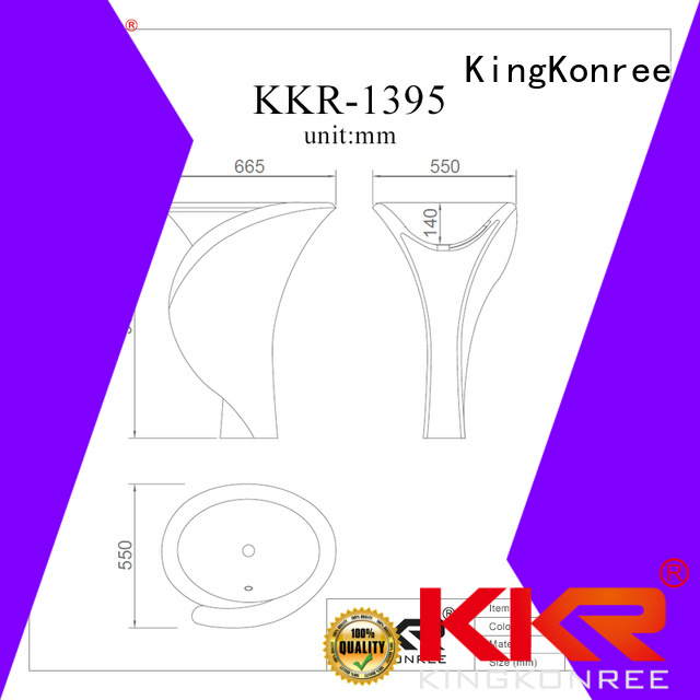 square standing bathroom free standing basins design KingKonree company