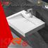 Quality KingKonree Brand rectangle wall mounted wash basins