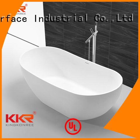 Wholesale round solid surface bathtub KingKonree Brand