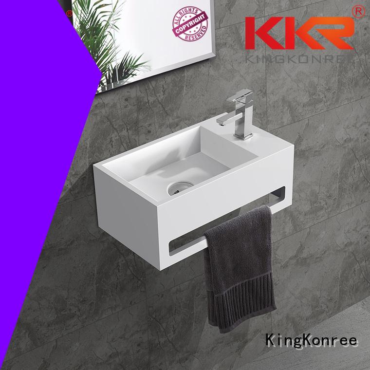 KingKonree Brand artificial slope surface custom wall mounted bathroom basin