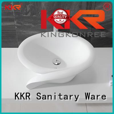 KingKonree Brand white oval above counter basin counter supplier