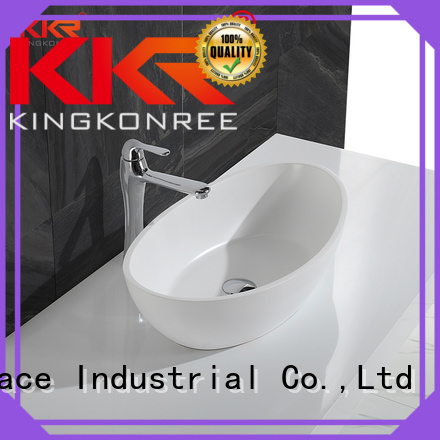 KingKonree Brand solid oval above counter basin shape supplier