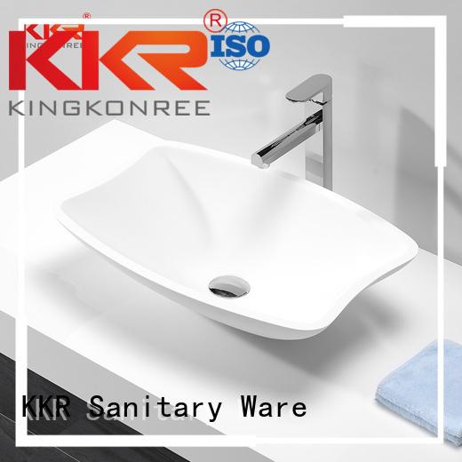 countertop artificial KingKonree Brand oval above counter basin